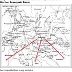 Yunnan map, city circles, and border economic zones