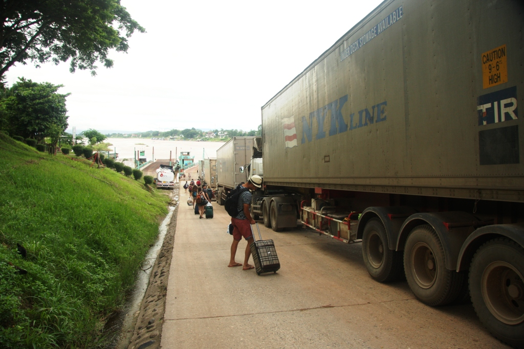 Container trucks will no longer have to wait in line for the Mekong ferry at Huayxai in Laos.