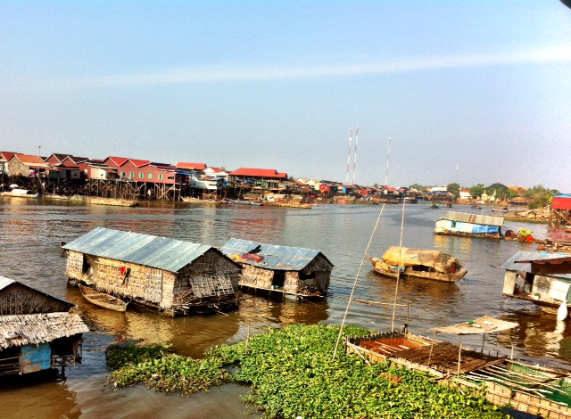Village life on the Tonle Sap