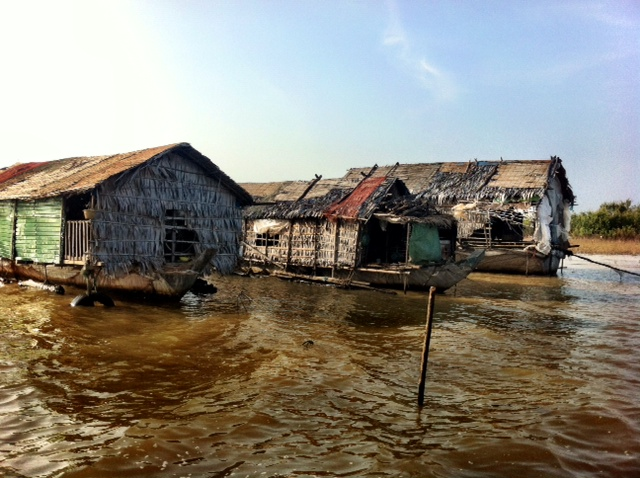 Vietnamese fishing village on Cambodia's Lake Tonle Sap.     Image: Brian Eyler