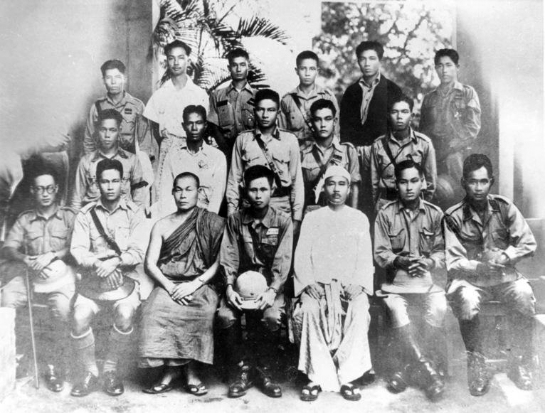 Burma's 30 Comrades trained by the Japanese during WWII.  Many like General Aung San would go on to lead the fight for Burmese independence and create the modern Burmese state.