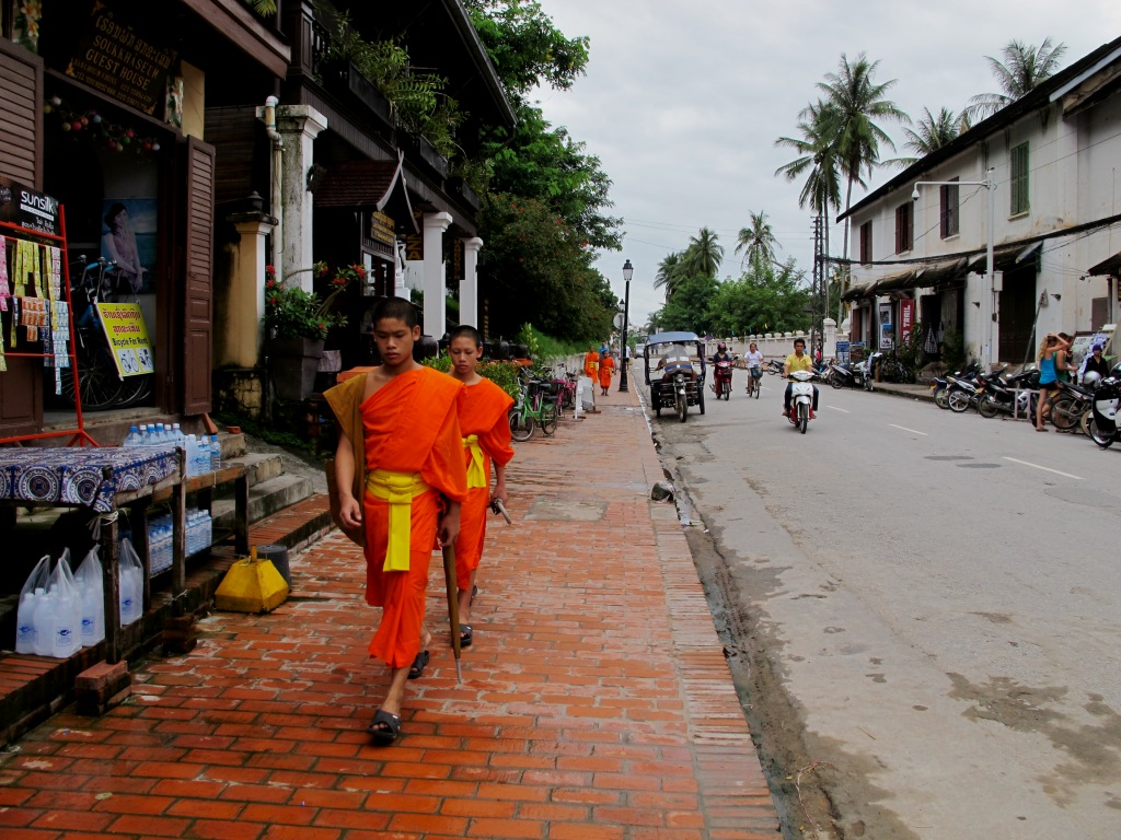 Young noviates are a common sight in Laos' Buddhist society