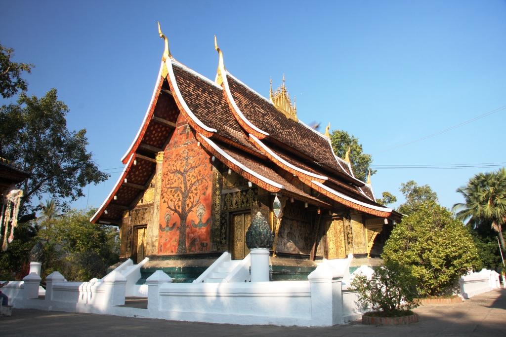 Wat Xieng Thong in Luang Prabang, the holiest of temples in the Lane Xang era