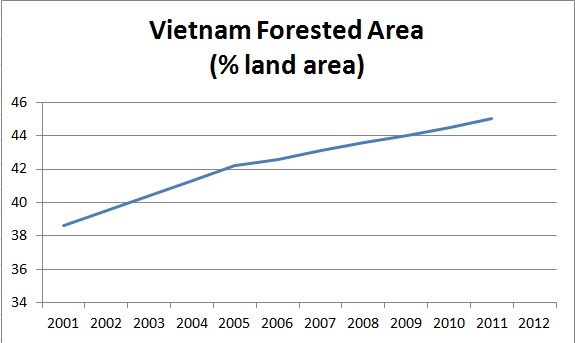 Vietnam forested area
