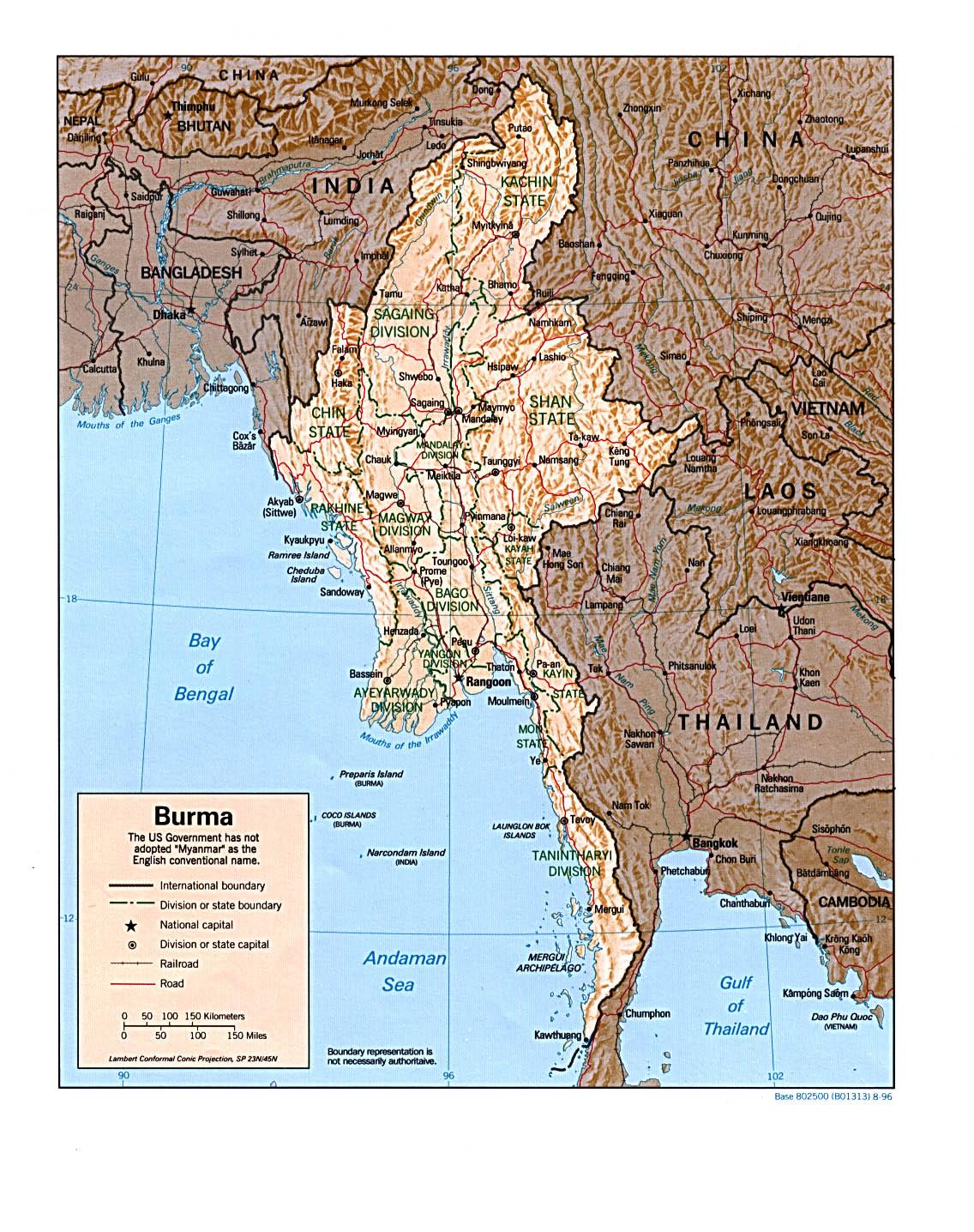 Birmanie Carte Regions.Myanmar Profile East By Southeast