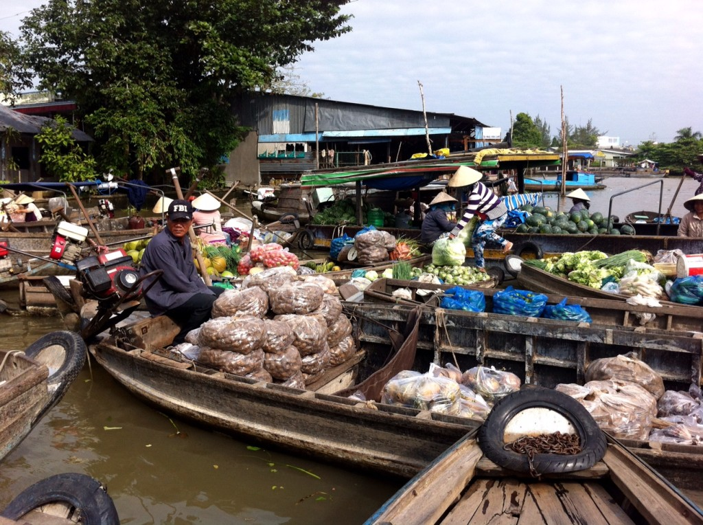 Floating markets provide critical commercial connections on the Mekong Delta in Can Tho