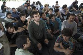 Detained Uighurs in Thailand. Photo: Reuters
