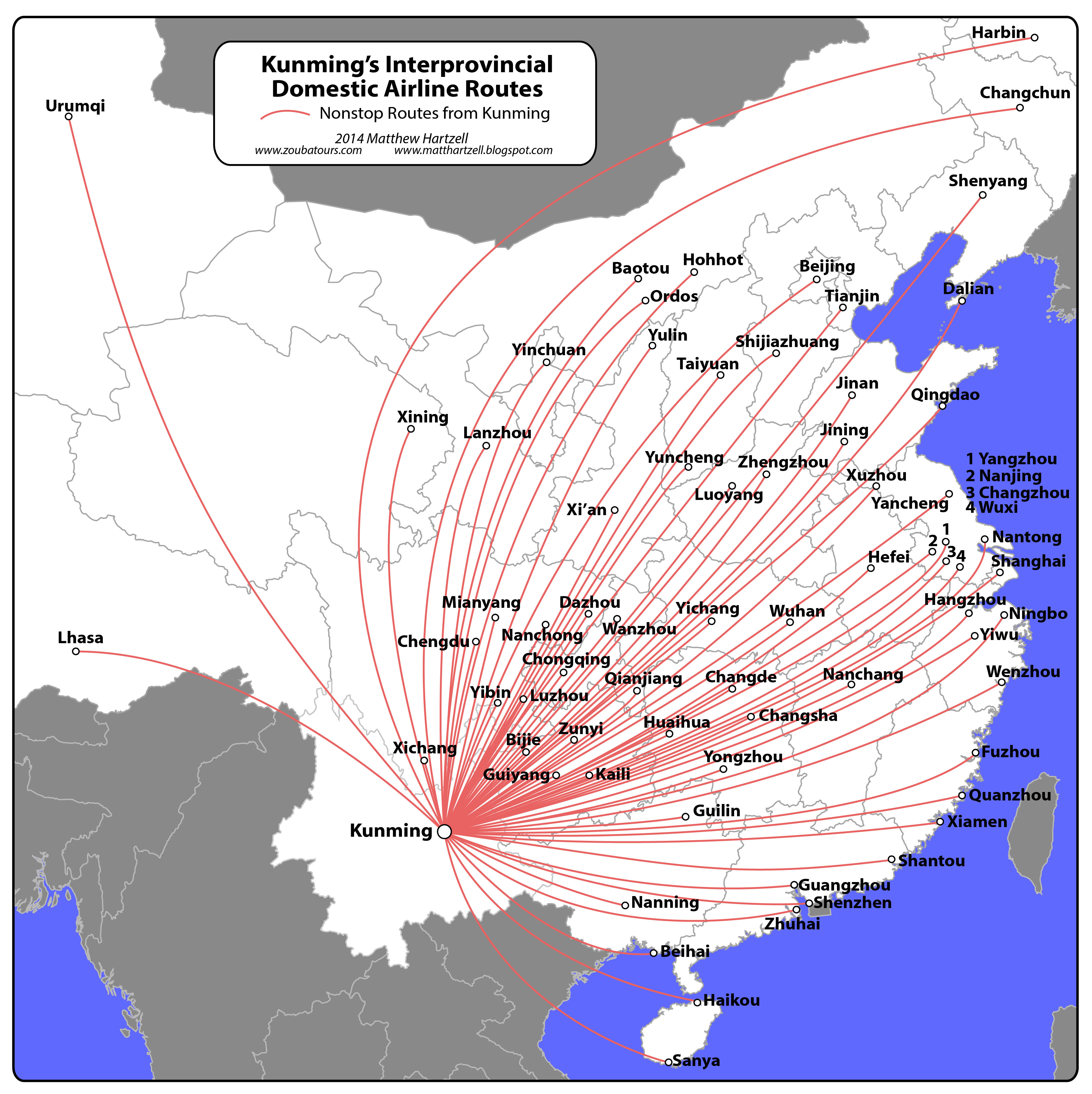 Airport International Connectivity Ranking China Vs US East By - Usa airports on the map