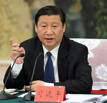 China's president Xi Jinping discussing State-sector reform in December 2013.