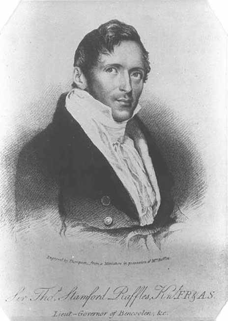 British colonialist, Sir Thomas Stamford Raffles