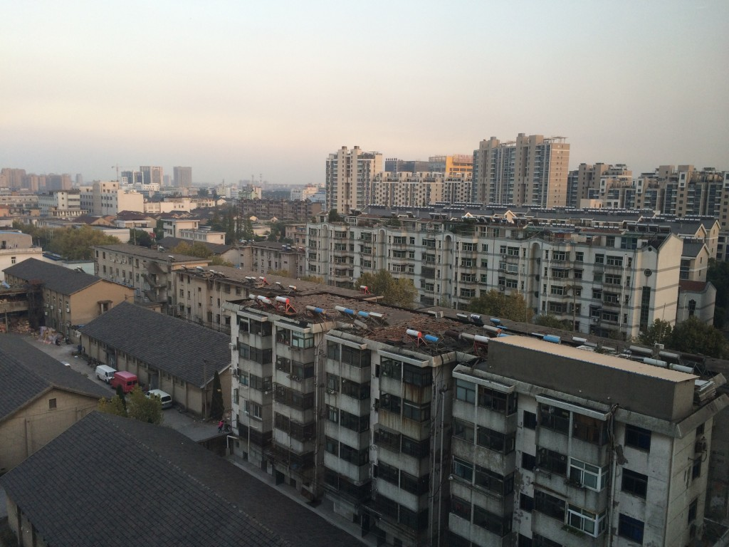 Skyline of Yangzhou, China.