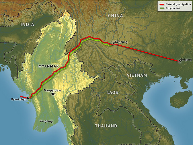 Oil Pipeline Connects Kunming To Andaman Sea East By Southeast