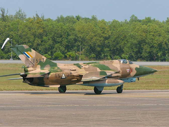 A Nanchang A-5C Fantan jet fighter commonly used by the Burmese military. Image used under Wikimedia Commons.