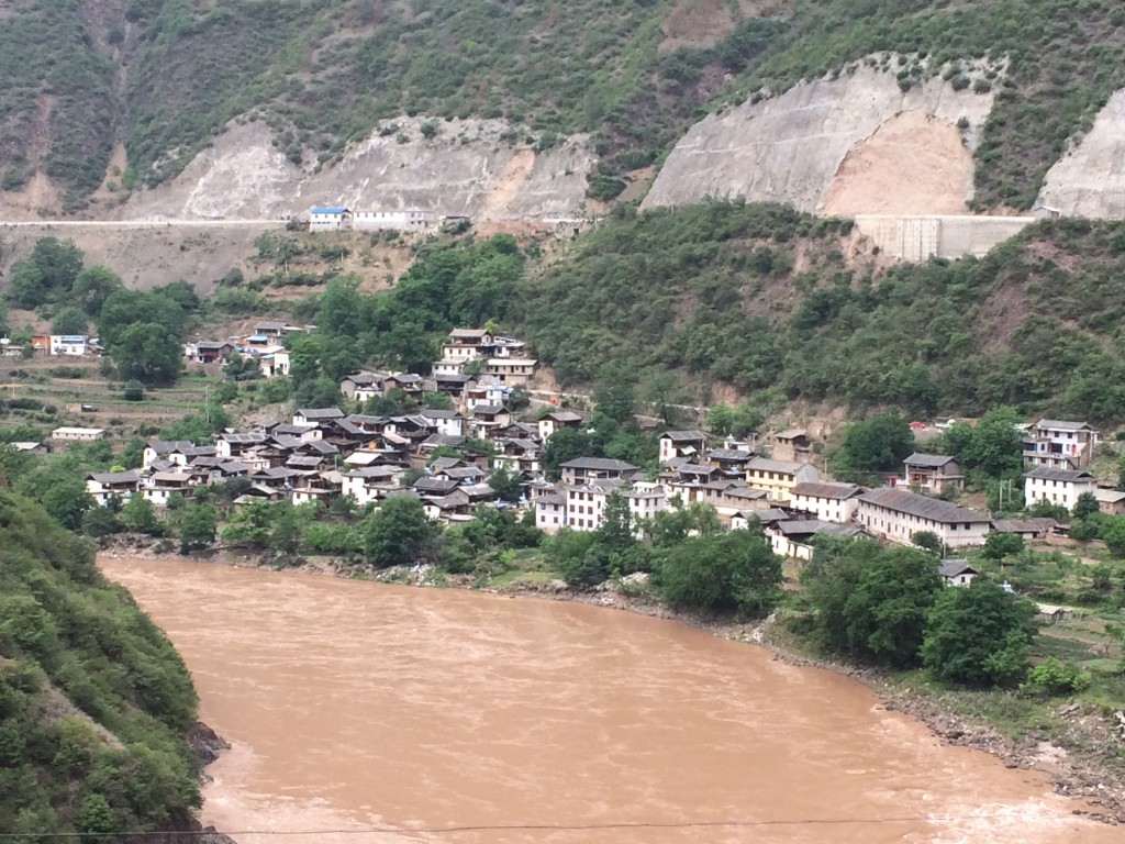 Part of Yanmen village located below the inundation zone of Wunonglong's reservoir.