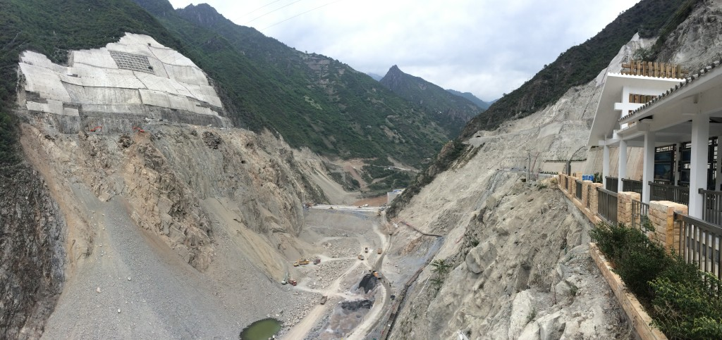 Construction began at the Wunonglong dam site in 2010.