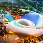Mockup of Wanda's theme park in Xishuangbanna. PS it never looks like this...