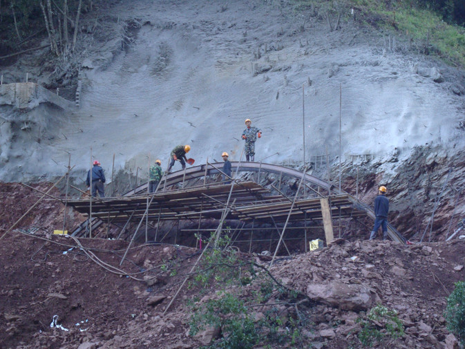 Work continues on the Darui Railroad in western Yunnan Image credit :cr8gc