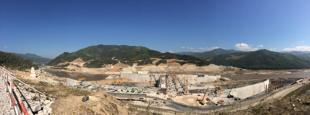 Xayaburi dam construction site. Photo: Stimson Center