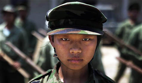 A young female recruit of the Kachin Independence Army. Photo: Asian Correspondent