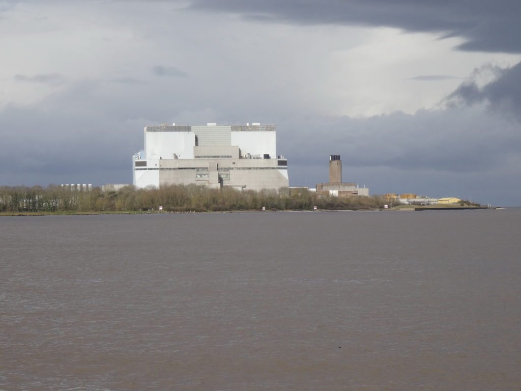 A view across Bridgwater Bay to the Hinkley A and B power station site. HPC will be developed alongside, at an estimated cost of £ 18 billion (David J.H. Blake)