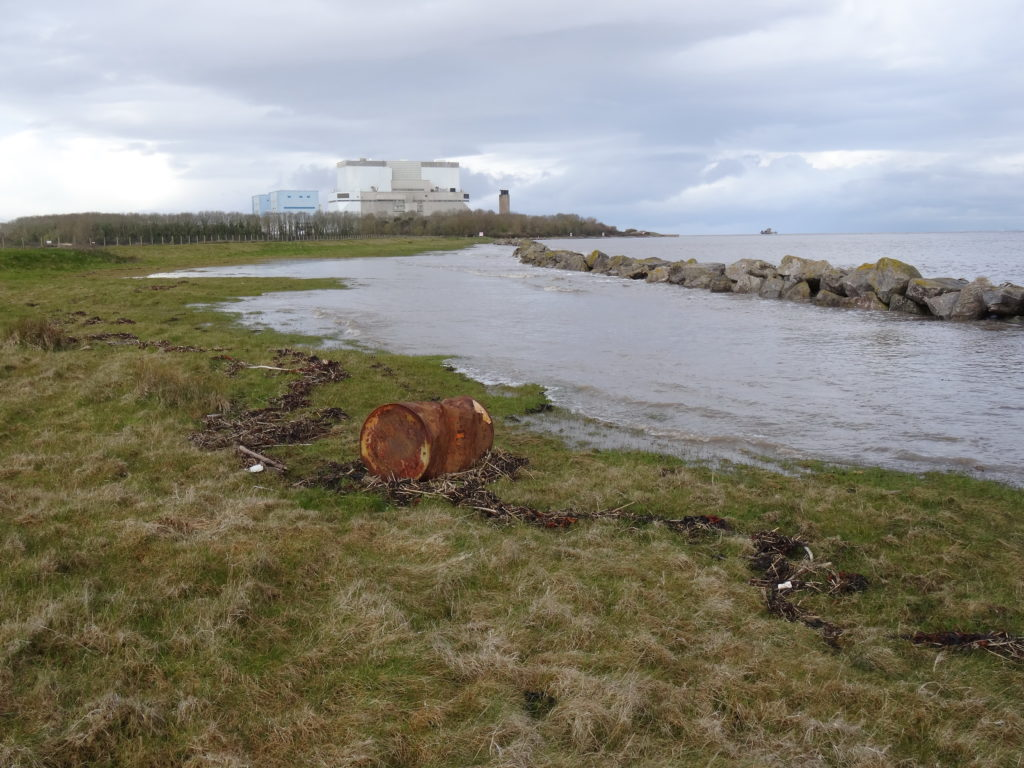 During a spring tide in early April 2016, the sea breached the first line of sea defences near the plant. In 1607, this coastline was struck by a major tsunami that swept many miles inland and drowned thousands (David J.H. Blake)